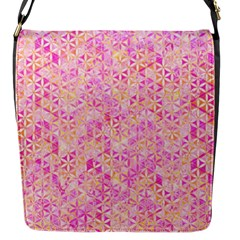 Flower Of Life Paint Pattern 9 Flap Messenger Bag (s) by Cveti