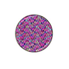 Flower Of Life Paint Pattern 10 Hat Clip Ball Marker (4 Pack) by Cveti