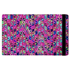 Flower Of Life Paint Pattern 10 Apple Ipad 3/4 Flip Case by Cveti