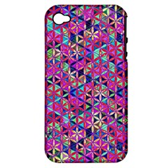 Flower Of Life Paint Pattern 10 Apple Iphone 4/4s Hardshell Case (pc+silicone) by Cveti