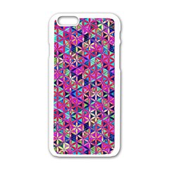 Flower Of Life Paint Pattern 10 Apple Iphone 6/6s White Enamel Case by Cveti