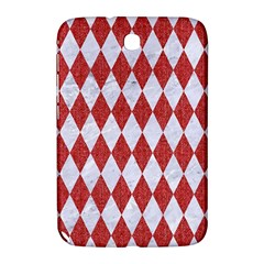 Diamond1 White Marble & Red Denim Samsung Galaxy Note 8 0 N5100 Hardshell Case  by trendistuff