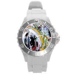 When The Egg Matters Most 4 Round Plastic Sport Watch (l) by bestdesignintheworld