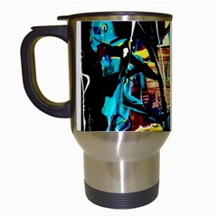 Dance Of Oil Towers 4 Travel Mugs (white) by bestdesignintheworld