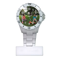 19688418 10155446220129417 1027902896 O   Walking With Daughter And Dog Plastic Nurses Watch by bestdesignintheworld