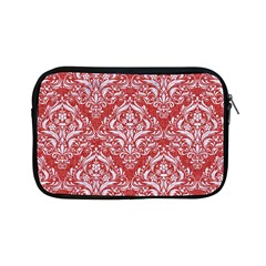 Damask1 White Marble & Red Denim Apple Ipad Mini Zipper Cases by trendistuff
