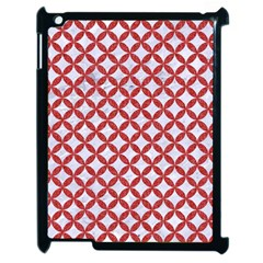 Circles3 White Marble & Red Denim (r) Apple Ipad 2 Case (black) by trendistuff