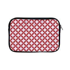 Circles3 White Marble & Red Denim (r) Apple Ipad Mini Zipper Cases by trendistuff