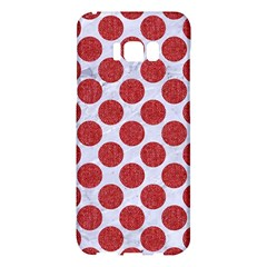Circles2 White Marble & Red Denim (r) Samsung Galaxy S8 Plus Hardshell Case