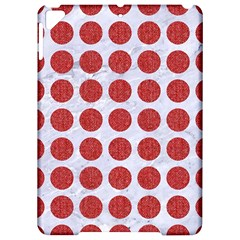 Circles1 White Marble & Red Denim (r) Apple Ipad Pro 9 7   Hardshell Case
