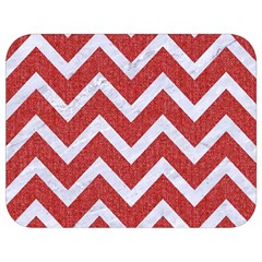 Chevron9 White Marble & Red Denim Full Print Lunch Bag by trendistuff