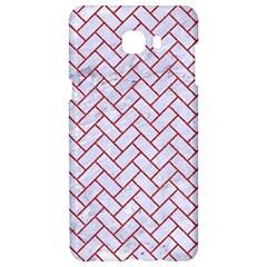 Brick2 White Marble & Red Denim (r) Samsung C9 Pro Hardshell Case  by trendistuff