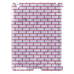 Brick1 White Marble & Red Denim (r) Apple Ipad 3/4 Hardshell Case (compatible With Smart Cover) by trendistuff