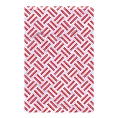 Woven2 White Marble & Red Colored Pencil (r) Shower Curtain 48  X 72  (small)  by trendistuff
