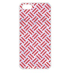 Woven2 White Marble & Red Colored Pencil (r) Apple Iphone 5 Seamless Case (white) by trendistuff