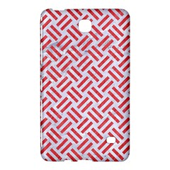 Woven2 White Marble & Red Colored Pencil (r) Samsung Galaxy Tab 4 (8 ) Hardshell Case  by trendistuff