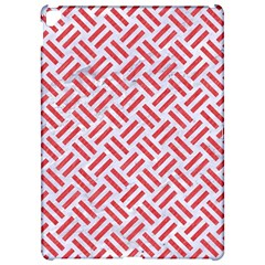 Woven2 White Marble & Red Colored Pencil (r) Apple Ipad Pro 12 9   Hardshell Case