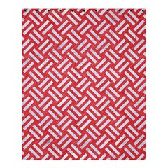 Woven2 White Marble & Red Colored Pencil Shower Curtain 60  X 72  (medium)  by trendistuff