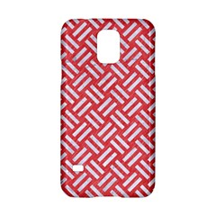 Woven2 White Marble & Red Colored Pencil Samsung Galaxy S5 Hardshell Case  by trendistuff