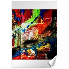 Untitled Red And Blue 3 Canvas 24  X 36  by bestdesignintheworld