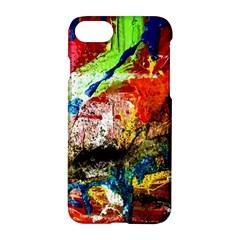 Untitled Red And Blue 3 Apple Iphone 7 Hardshell Case by bestdesignintheworld