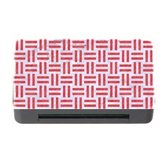 Woven1 White Marble & Red Colored Pencil (r) Memory Card Reader With Cf by trendistuff