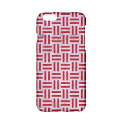 Woven1 White Marble & Red Colored Pencil (r) Apple Iphone 6/6s Hardshell Case by trendistuff