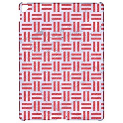 Woven1 White Marble & Red Colored Pencil (r) Apple Ipad Pro 12 9   Hardshell Case