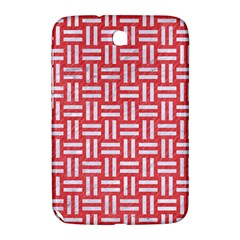 Woven1 White Marble & Red Colored Pencil Samsung Galaxy Note 8 0 N5100 Hardshell Case  by trendistuff