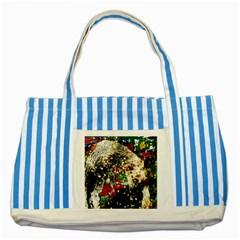 Wet Kiss 2 Striped Blue Tote Bag by bestdesignintheworld