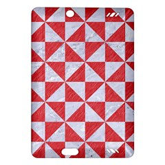 Triangle1 White Marble & Red Colored Pencil Amazon Kindle Fire Hd (2013) Hardshell Case by trendistuff