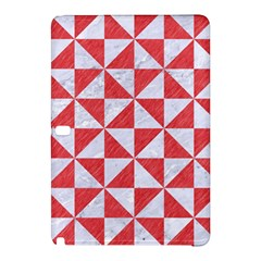 Triangle1 White Marble & Red Colored Pencil Samsung Galaxy Tab Pro 12 2 Hardshell Case by trendistuff