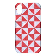 Triangle1 White Marble & Red Colored Pencil Apple Iphone X Hardshell Case