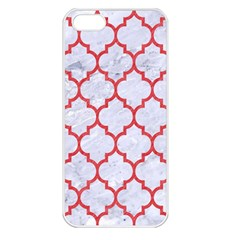 Tile1 White Marble & Red Colored Pencil (r) Apple Iphone 5 Seamless Case (white) by trendistuff