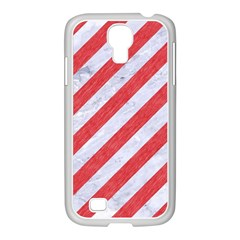 Stripes3 White Marble & Red Colored Pencil (r) Samsung Galaxy S4 I9500/ I9505 Case (white) by trendistuff