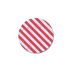 Stripes3 White Marble & Red Colored Pencil Golf Ball Marker (4 Pack) by trendistuff
