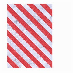 Stripes3 White Marble & Red Colored Pencil Large Garden Flag (two Sides) by trendistuff