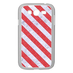 Stripes3 White Marble & Red Colored Pencil Samsung Galaxy Grand Duos I9082 Case (white) by trendistuff