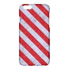 Stripes3 White Marble & Red Colored Pencil Apple Iphone 6 Plus/6s Plus Hardshell Case