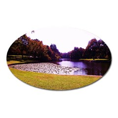 Highland Park 7 Oval Magnet by bestdesignintheworld