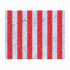 Stripes1 White Marble & Red Colored Pencil Small Glasses Cloth