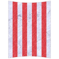 Stripes1 White Marble & Red Colored Pencil Back Support Cushion