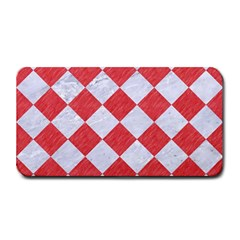Square2 White Marble & Red Colored Pencil Medium Bar Mats by trendistuff