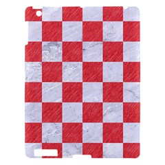 Square1 White Marble & Red Colored Pencil Apple Ipad 3/4 Hardshell Case by trendistuff