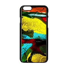 Yellow Dolphins   Blue Lagoon 3 Apple Iphone 6/6s Black Enamel Case by bestdesignintheworld