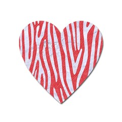 Skin4 White Marble & Red Colored Pencil (r) Heart Magnet by trendistuff