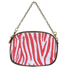 Skin4 White Marble & Red Colored Pencil Chain Purses (two Sides)  by trendistuff