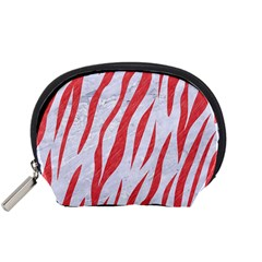 Skin3 White Marble & Red Colored Pencil (r) Accessory Pouches (small)  by trendistuff