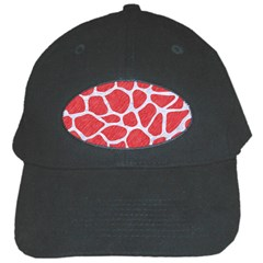 Skin1 White Marble & Red Colored Pencil (r) Black Cap by trendistuff