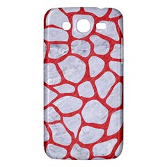 Skin1 White Marble & Red Colored Pencil Samsung Galaxy Mega 5 8 I9152 Hardshell Case  by trendistuff